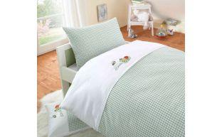 Lorenchen Bettwäsche mit Stickerei Frosch