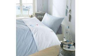Lorenchen Bettwäsche mit Stickerei Segelboot 100x135 + 40x60