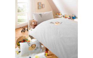 Lorenchen Bettwäsche mit Stickerei Löwe 100x135 + 40x60